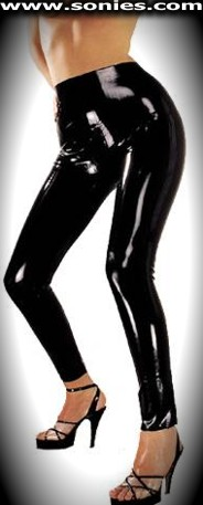 Perfectly formed ladies seriously distracting latex leggings