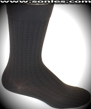 Gentleman's Lycra dress socks with trendy triangle pattern