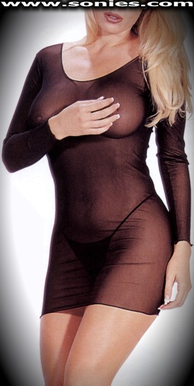 Buni Zom mesh long sleeve dress and G-String panty set