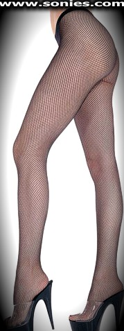 Charcharodon Carcharias stretch seamless fishnet pantyhose