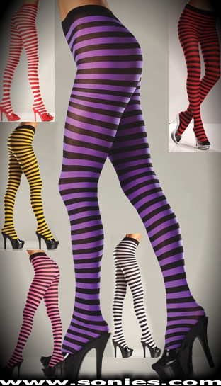 Scorpio fashion stretch opaque stripe tights