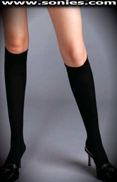 Fang-Tastic stretch opaque knee high stockings