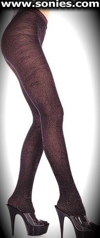Spanish Orestes glitter lace patterned Lurex fashion tights